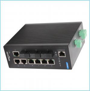 Industrial Level 4 design 10 gigabit ethernet switch , metal casing Fiber Ethernet Switch