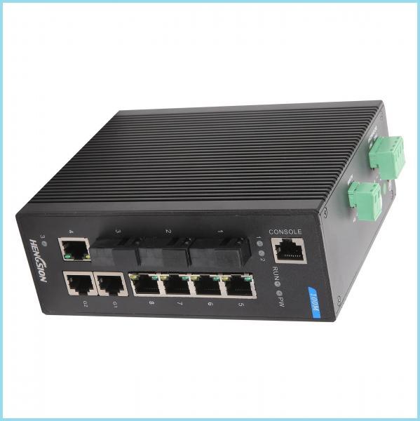 Quality Industrial Level 4 design 10 gigabit ethernet switch , metal casing Fiber Ethernet Switch for sale