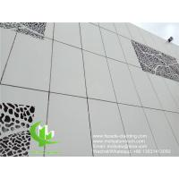 Wholesale wall cladding metal aluminum panel powder coated outdoor aluminum solid panel curtain wall for facade cladding from china suppliers