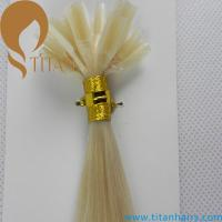 """Wholesale wholesale price 20"""" 1g/strand straight 613# Brazilian human nail hair extension/keratin hair extension from china suppliers"""