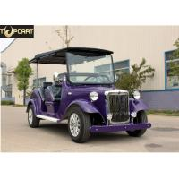 High Performance Classic Golf Cart 4 Passenger Electric Buggy Car With Purple Color for sale