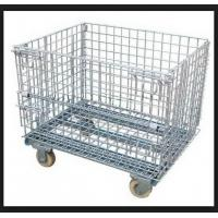 Wholesale Wire Mesh Warehouse Storage Steel Pallet Cages Heavy Duty 1000kg Capacity from china suppliers
