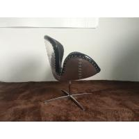 Wholesale Leather Swivel Leisure Modern Sitting Chairs Vintage Aviator Swan Chair For Living Room from china suppliers