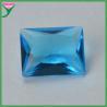 Wuzhou Wholesale Sapphire Blue Rectangle Crystal Glass Gems for sale