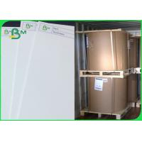 China One Side Cardboard Paper Roll / White Clay Coated C1S White Card paper Board In sheet on sale