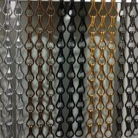China Anodized metal decorative Aluminum chain link fly screen curtain Metal Chain Link Fly Screen Mesh Door Curtain on sale
