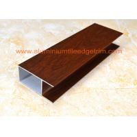 Wholesale Modern Type Aluminum Window Frame ExtrusionsSmooth Edges Wood Grain Color from china suppliers