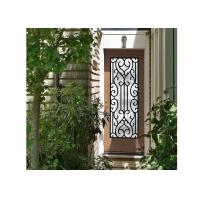 Galvanized Steel Remarkable Inlaid Door Glass For Building Hand Forged for sale