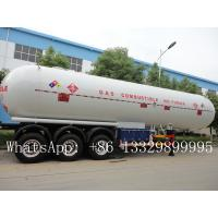 Wholesale CLW brand 3 axles BPW  LPG Tank Trailer Truck 58.5 m3 for sale, best price CLW brand 58500L propane gas tank semitrailer from china suppliers