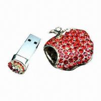 China Jewelry USB Flash Memory Drive, Best Gift for Girl, Save Data Security, Supports Multiple Systems on sale