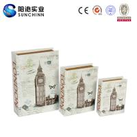 Best Muticolored Canvas Printing Wooden Box/ Book Box/Book Container for Storage wholesale