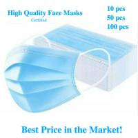 Wholesale Earloop Style Blue Non Woven Face Mask , Surgical Grade 3 Layer Face Mask from china suppliers