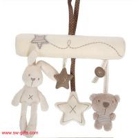 China Baby Rabbit Toy Baby Bed Stroller Hanging Rattle Plush Soft Musical Mobile Toy Carriages for sale