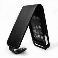 Wholesale Leather Case for iPhone 3G with Metal Button, Available in Flip Style from china suppliers