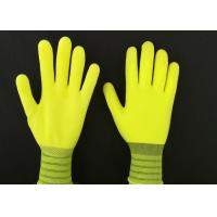 13G Yellow Latex Coated Gloves High Extension Elastic Knitting Customized Size for sale