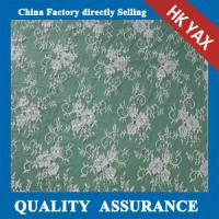 Wholesale YAX China supplier wholesale High quality bridal lace fabric with ivory color scalloped edge from china suppliers