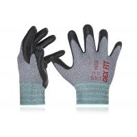 Nylon / Polyester Liner Foam Nitrile Coated Gloves Anti Abrasion Free Sample for sale