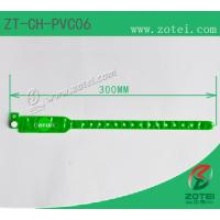 Wholesale RFID one-time PVC wristband tag (LF/HF/UHF, Product Type:ZT-CH-PVC06) from china suppliers