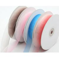 China Easy Pressing Silk Organza Ribbon With Color Wash Light For Crafts for sale