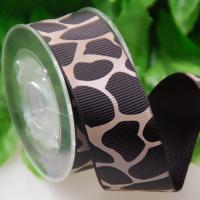China 25 MM Custom One Color Ink Screen Leopard Print Ribbon For Gifts Wrapping for sale