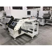 China Two Heads Flat Bed Slitting Machine With Manual Rotary Die Cutting For Blank Label for sale
