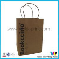 Recycled Clothing Packaging Kraft Paper Shopping Bags With Paper Rope for sale