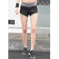 Wholesale Color Contrast Womens Sports Shorts Plain Dyed Technics Attractive Appearance from china suppliers