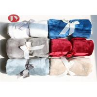 China Eco - Friendly Custom Polyester Blanket , Ultra Soft  Microplush Blanket Rolled Package on sale
