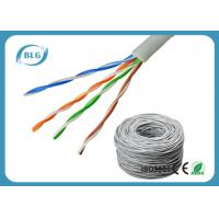 Wholesale CAT5e CCA Bulk Internet Cable Wire , 500ft Gray Lan Network Cable Solid 24AWG 4 Pair from china suppliers