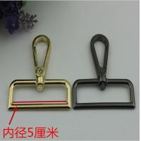 China Zinc alloy silver gold big 50 mm metal spring swivel bolt snap hook for bags fitting on sale