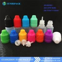 Wholesale 3ml LDPE e-liquid bottle, plastic bottle with child proof and tamper evident cap from china suppliers
