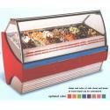 Auto Defrost Ice Cream Showcase Freezer , 1568mm Length Fan Forced Ventilation for sale