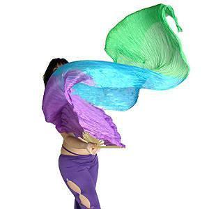 China Silk Veil Dance Fan for Belly Dance on sale