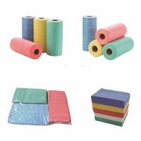 Wholesale Dry Flat Spunlace Nonwoven Wipes Eco - Friendly For   Food Industry from china suppliers
