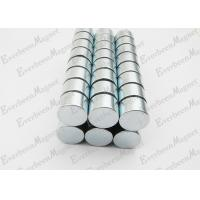 Strong Neodymium Magnets Dia 15 mm * 10 mm Thickness Zinc Coated For Holders