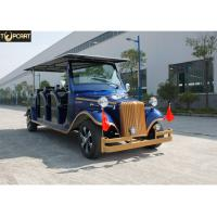 Aluminum Chassis Classic Golf Cart Shuttle Bus With Roof For Scenic Using for sale