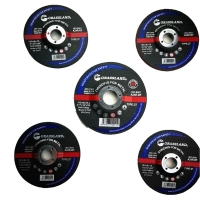 Wholesale 115mm X 6.4mm X 22.23mm Resin Bonded Grit 24 Abrasive Grinder Discs For Metal Fab from china suppliers