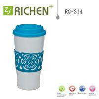 Wholesale cute mugs with carving colorful coffee mugs RC-314 cups with soft lid 16oz from china suppliers