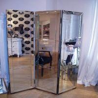 Modern 3D Wall Mirror 175 * 180cm Size Rectangular Floor Standing Mirror for sale