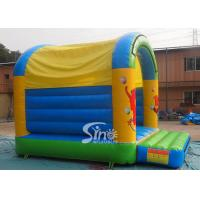 Quality 5x4 mts outdoor Let's party kids inflatable bouncy castle made with 610g/m2 pvc for sale