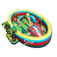 Wholesale 8x6 meters Jungle Theme Kids Inflatable Fun Park with Slide For Indoor Or Outdoor Use from china suppliers