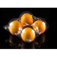 Fruit packing box disposable plastic transparent 4 apples or oranges in super market for sale