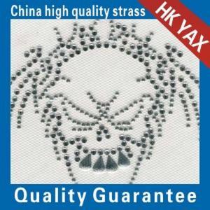 Wholesale china hotfix motifs factory;2014 fashion design skull design motif hotfix;hot fix motifs from china suppliers