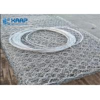 Wholesale Road Filling Gabion Baskets , Gabion Wall Mesh Non Electrostatic Reliable from china suppliers