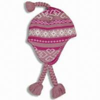 Wholesale Knitted Hat, Made of 100% Cotton from china suppliers