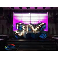 Wholesale LED DJ booths/ LED Ox Horn-P5-3.38  ARISELED.COM Creative LED Displays Led Stage Screen-DJ from china suppliers