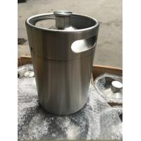 Wholesale Beer Usage and Steel Material mini keg growler 5L, with tap, coupler, regulator on top from china suppliers
