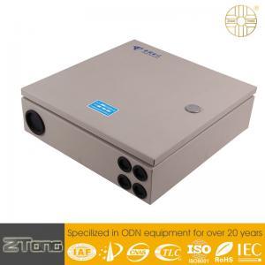 Wholesale High Grade Carbon Steel Fiber Optic Splitter Box , Splitter Distribution Box 12-24F from china suppliers