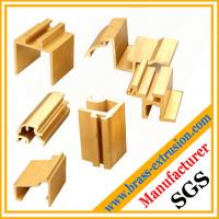 Wholesale decoration material brass extrusion sections from china suppliers
