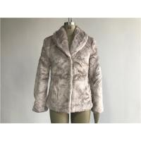 Wholesale Mink Ladies Fake Fur Coats / Faux Fur Reverse Collar Luxe Coat TW64896 from china suppliers